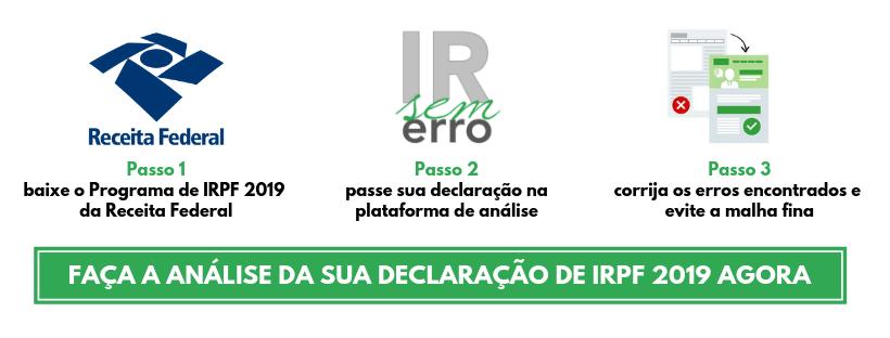 FACA A ANALISE DA SUA DECLARACAO DE IRPF 2019 AGORA